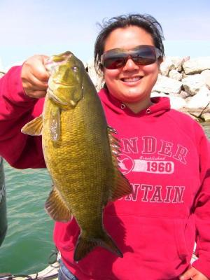Smallmouth Bass- One of 25 fish caught on the day